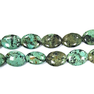 AFRICAN TURQUOISE FLAT OVAL 18X25MM