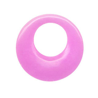 AGOGO 45MM DYED JADE LIGHT FUSIAL