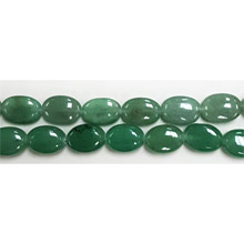 AVENTURINE FLAT OVAL 10X14MM