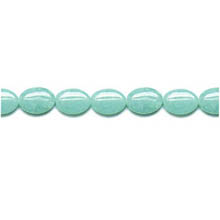 AMAZONITE FLAT OVAL 10X14MM
