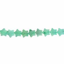 AMAZONITE FLAT STAR 06MM