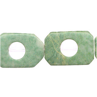 CHINA JADE RECTANGLE HOLLOW 20X30MM
