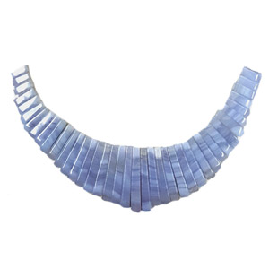 BLUE LACE AGATE 41 PCS FAN