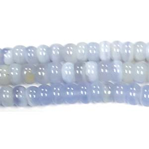 BLUE CHALCEDONY ROUNDELLE 08MM