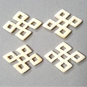 BONE DIAMOND 27X38MM IVORY(4PCS/BAG)