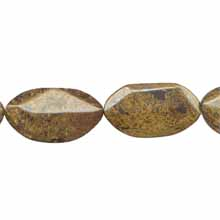 BRONZITE D. FACETED FREEFORM 24X44MM