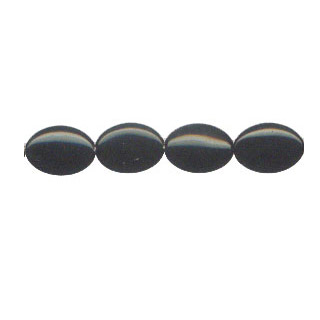 BLACK OBSIDIAN FLAT OVAL 13X18MM