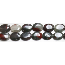CHICKEN BLOOD FLAT OVAL 10X14MM