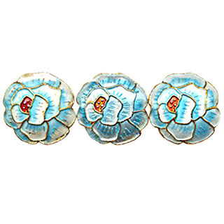 CLOISONNE DESIGN BEADS 10BWH