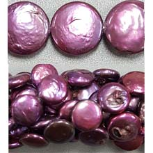 FRESH WATER PEARL COIN PEARL 12-13MM WINE