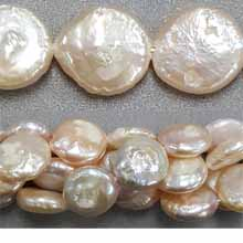FRESH WATER PEARL COIN 12-13MM NATURAL PEACH