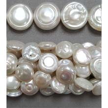FRESH WATER PEARL COIN PEARL 12MM WHITE(B)