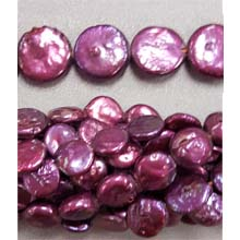 FRESH WATER PEARL COIN PEARL 09MM WINE
