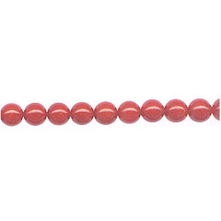 DYED RED CORAL ROUND 2.5-3MM