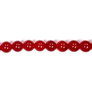 DYED RED JADE 10MM