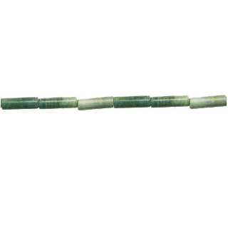 GREEN PICASSO JASPER TUBE 04x13MM