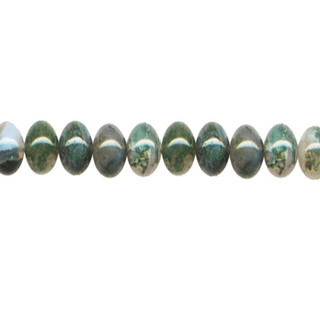 MOSS AGATE ROUNDELLE 08MM