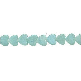 AMAZONITE FLAT HEART 08MM