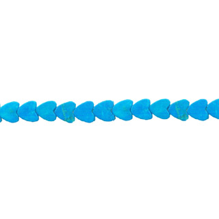 HOWLITE TURQUOISE HEART 06MM