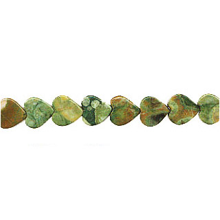 RHYOLITE FLAT HEART 08MM