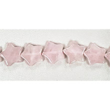 ROSE QUARTZ FLAT STAR 12MM
