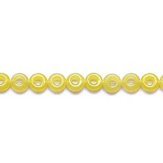 DYED YELLOW JADE LOOSE DONUT 12MM
