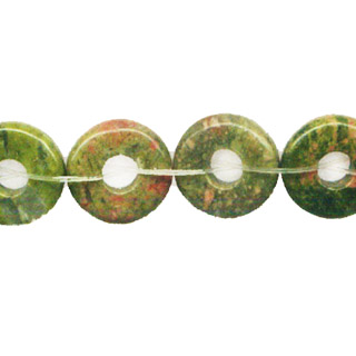 UNAKITE LOOSE DONUT 12MM