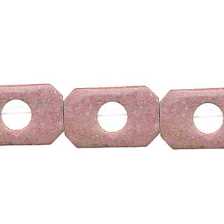 RHODONITE RECTANGLE HOLLOW 20X30MM