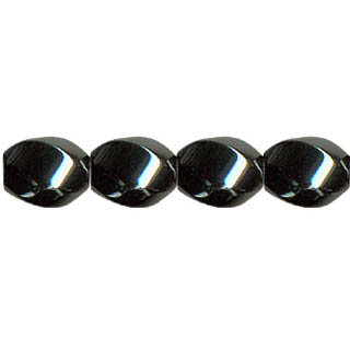 HEMATITE 6 FACE SWIRL 10X12MM