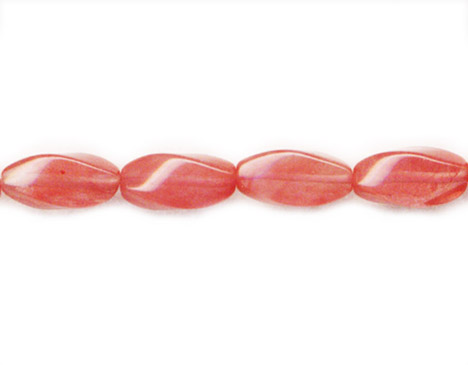 CHERRY QUARTZ SWIRL 10X20MM