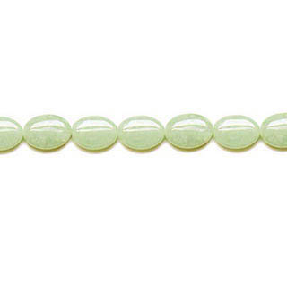 NEW JADE FLAT OVAL 10X14MM