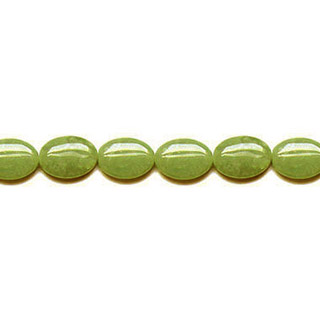 OLIVE JADE FLAT OVAL 10X14MM