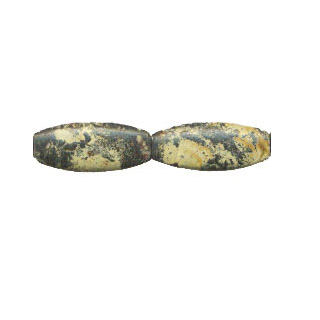 YELLOW TURQUOISE 3 FACE OVAL 12X30MM