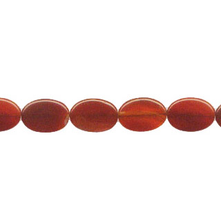 CARNELIAN(DARK) FLAT OVAL 13X18MM