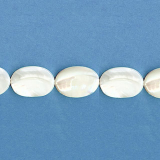 MOP(WHITE) FLAT OVAL 13X18MM