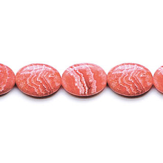 DYED RHODOCHROSITE FLAT OVAL 15X20MM