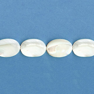 MOP(WHITE) FLAT OVAL 15X20MM