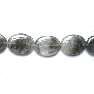 CLOUDY CRYSTAL FLAT OVAL 18X25MM