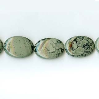 GREEN WEB JASPER OVAL 18X25MM