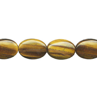 TIGER EYE FLAT OVAL 13X18MM
