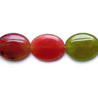 RAINBOW JADE FLAT OVAL 22X30MM
