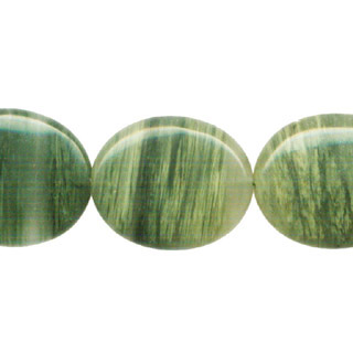 GREEN SEGA AGATE FLAT OVAL 25X30MM
