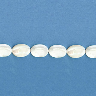MOP(WHITE) FLAT OVAL 08X10MM