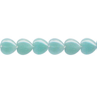 AMAZONITE PUFF HEART 12mm