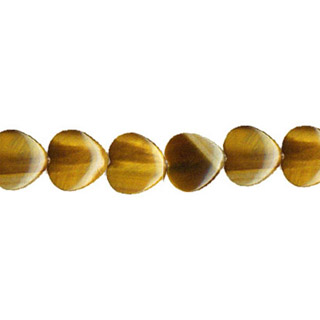 TIGER EYE PUFF HEART 12MM