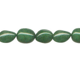 DYED JADE NUGGET 15X20MM DARK GREEN