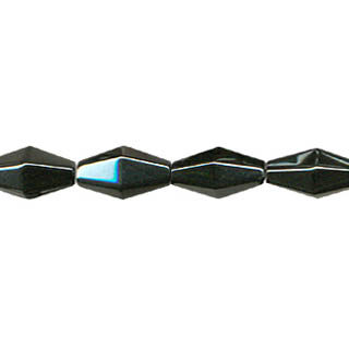 HEMATITE 12 FACE DIAMOND 8X12MM