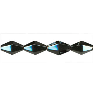 HEMATITE  12 FACE DIAMOND 8X16MM