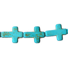 SYNTHETIC TURQUOISE CROSS 12X16MM