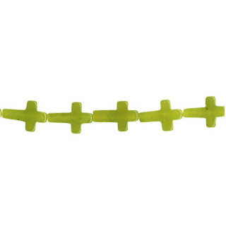 OLIVE JADE CROSS 10X15MM